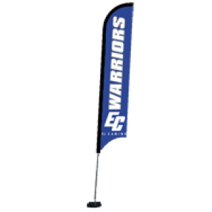 Custom banner flags for sports tournaments