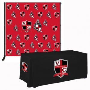backwall banner stands & table cloth