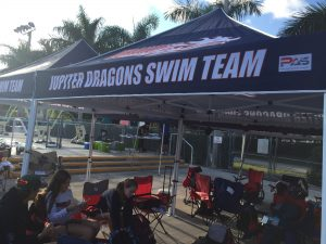 Custom canopies for swim meets